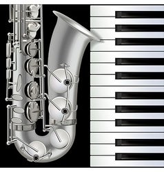 abstract musical background with saxophone and vector image vector image