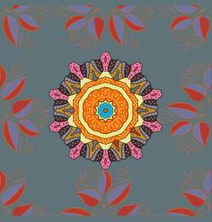 bag design hand-drawn mandala with colored vector image