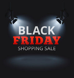 Black friday shopping sale background with vector