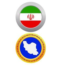 button as a symbol IRAN vector image