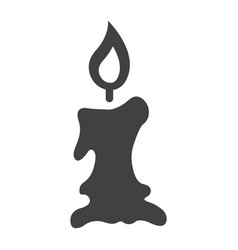 Candle icon glyph icon halloween and scary vector