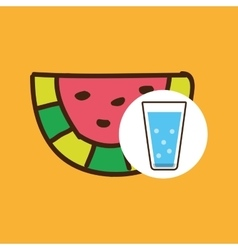 Cartoon cup glass water with vector