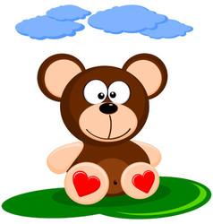 Cute Of Brown Cartoon Bear vector image vector image