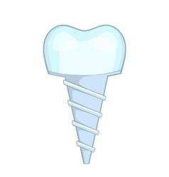 Dental implant icon cartoon style vector