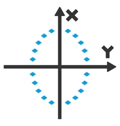 Dotted ellipse plot toolbar icon vector