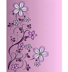 floral decor vector image