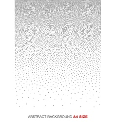 Gradient Halftone Dots Background A4 size vector image vector image