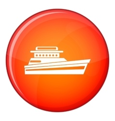 Great powerboat icon flat style vector