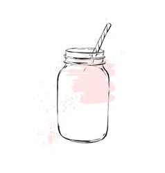 hand drawn graphic kitchen glassware vector image