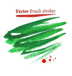 Hand drawn watercolor brush strokes vector image vector image