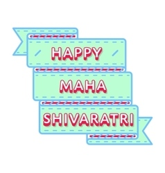 Happy maha shivaratri greeting emblem vector