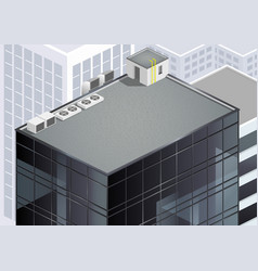 Isometric skyscraper roof vector