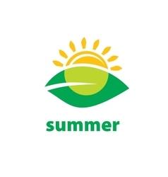 Logo summer vector