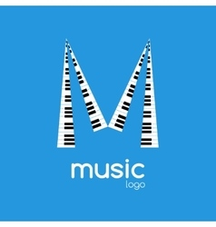 minimalistic music piano logo Music trendy vector image vector image