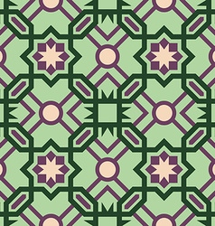Mosaic tile pattern with abstract green design vector