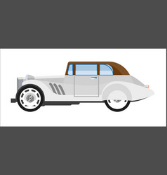 Old gray colored elegant car vector