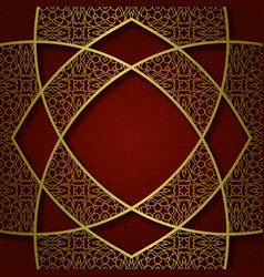 ornamental background with abstract frame vector image vector image