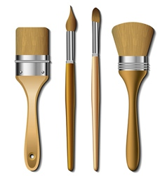 Painting brush set vector