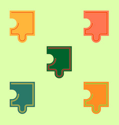 Puzzle piece collection vector