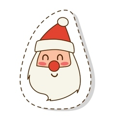 Santa claus flat icon face vector