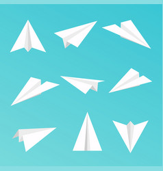 Set a simple paper planes icon vector