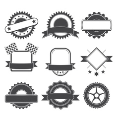 Set of logotype element for mechanic garage car vector