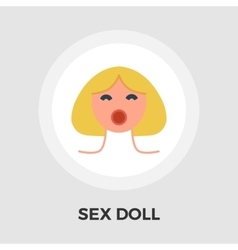 Sex doll flat icon vector