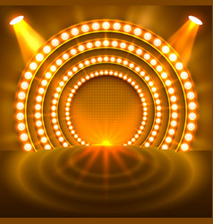 show light podium gold background vector image vector image