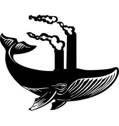 Smokestack Whale vector image vector image