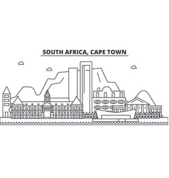 south africa cape town architecture line skyline vector image