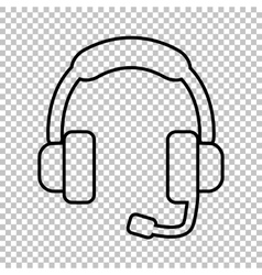 Support line icon vector image vector image
