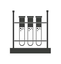 Test tube rack laboratory chemistry equipment vector