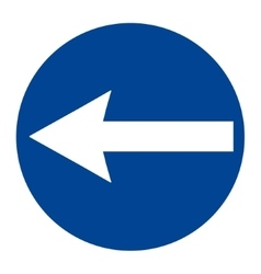 Round traffic sign vector