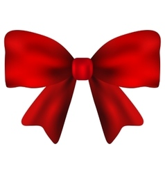 Red gift bow of ribbon vector