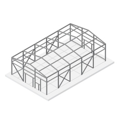 Hangar Metal Frame Isometric View vector image