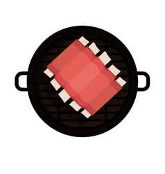Isolated grill and bbq ribs design vector