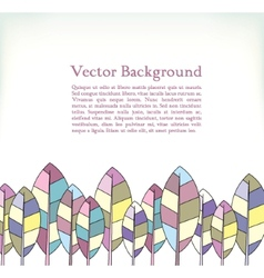 abstract forest background vector image