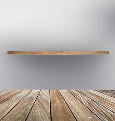Empty wood shelf floor vector image