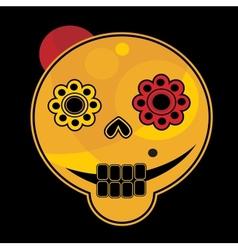 Funny skull face vector image