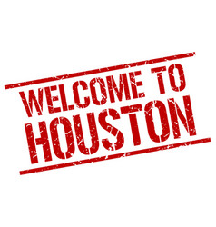Welcome to houston stamp vector