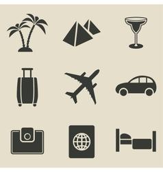 Travel icon set - vector image