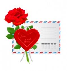 Valentine's envelope vector image