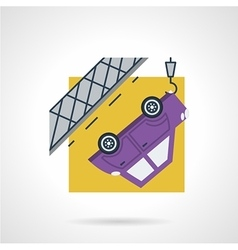 Car evacuation flat icon vector