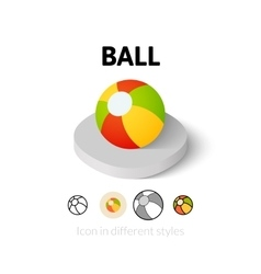 Ball icon in different style vector
