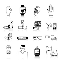 Gadgets and devices icons set vector image