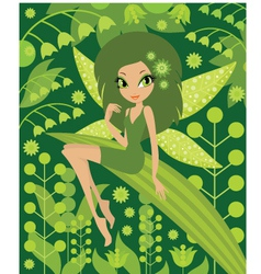 wood fairy vector image