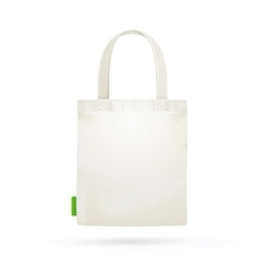 White Fabric Cloth Bag Tote vector image