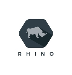Rhino animal logo of a modern style vector