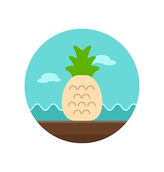 Pineapple icon summer vacation vector