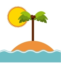 Beach and palm tree icon island design vector